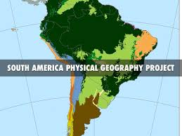South America Physical Map by