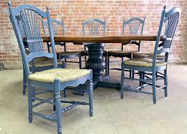 6ft Round Dining Table 84 Round Oak Farm Table With Tuscany Pedestal Ecustomfinishes