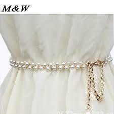 wedding dress belts white rhinestone pearl wedding bridal dress belt