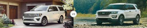 2018 ford expedition vs 2018 ford explorer compare specs