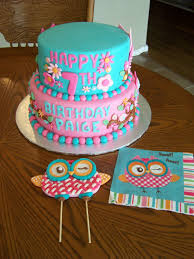 heather calvin cakes owl themed cake for a girly