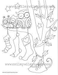 listing 3 christmas owl colouring