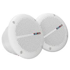 1 pair waterproof marine boat ceiling speakers kitchen bathroom