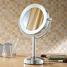 makeup mirror 10x magnification with light amazon com riorand lighted dimmable 1x 10x magnification makeup