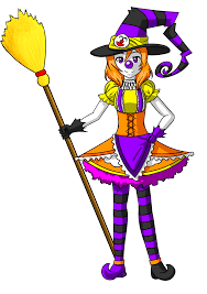 halloween cartoon drawings maki halloween clown witch by tf circus on deviantart