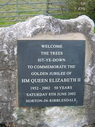 garden plaques file memorial garden plaque horton in ribblesdale geograph org