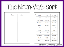 Verb Worksheets Free Parts Of Speech Worksheets The Noun Verb Sort Free