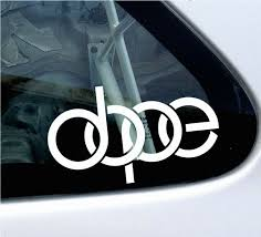 jdm car stickers dope 4 rings theme jdm car scene sticker decal