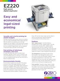 riso ez220 spec sheet printer computing paper