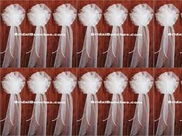 pew decorations for weddings set of 14 8 x22 ivory or whitetulle wedding bows pew bows church