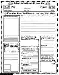 free newspaper template for kids u2013 kids matttroy intended for