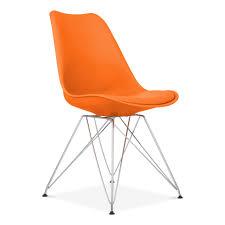 Modern Chairs Orange Modern Chair Orange Dining Chair With Eiffel Metal Legs