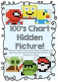 superhero hundreds chart math mystery pictures fun