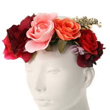 flower crowns rosy oversized flower crown s