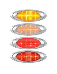 oval p1 led clearance marker light elite truck accessories