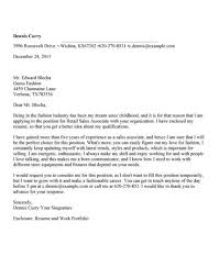 Cover Letter For Sales Associate Position Cover Letter For A Sales Associate