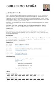 Sports Management Resume Samples by Project Management Consultant Resume Samples Visualcv Resume