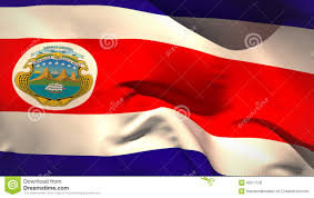 Costa Rico Flag Digitally Generated Costa Rica Flag Waving Stock Video Video Of
