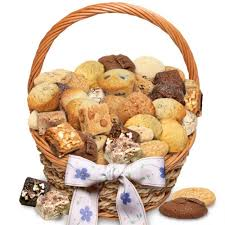 cookie basket of delights muffin brownie cookie basket