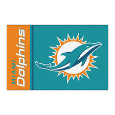Dolphin Rugs Amazon Com Fanmats Nfl Miami Dolphins Nylon Face Starter Rug