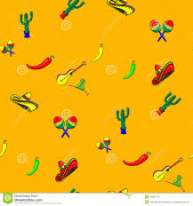 margarita icon pattern for cinco de mayo with a sombrero maracas jalapeno