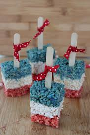 patriotic rice krispies treats pops baking beauty