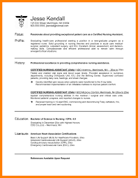 Example Of A Cna Resume by 4 Cna Resume Example Appraisal Letter