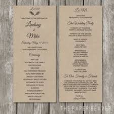 Order Wedding Programs Printable Wedding Program The Layla Collection Wedding