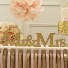 mr and mrs gold wooden wedding sign by