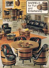 Jcpenney Furniture Dining Room Sets Vintage Mid Century Whiskey Barrel Bar Table U0026 4 Chairs Mcm
