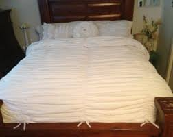 Shabby Chic White Comforter by Ruffle Bedding Etsy