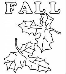 good fall leaves coloring pages for kids with printable fall