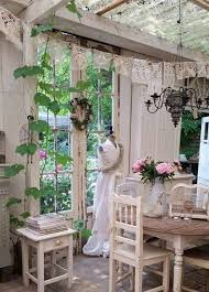 Shabby Chic Garden Decorating Ideas Shabby Garden Room With Vintage Lace Bunting все для сада