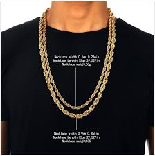 chain necklace size images 2018 mens iced out hip hop chains yellow 24k gold plated necklace jpg