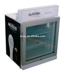 single temperature 70lt glass door display ice cream refrigerator