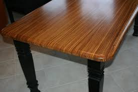 Zebra Side Table Hand Made Zebrawood Kitchen Table By Carolina Wood Designs