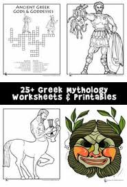 greek mythology resources and free printables mostly ages 5 10
