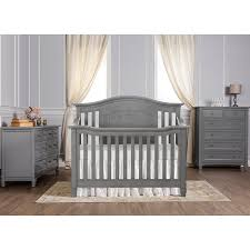Walmart Convertible Cribs by Amazon Com Evolur Fairbanks 5 In 1 Convertible Crib Storm Grey