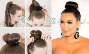 donut bun hair donut bun hair tutorial foto