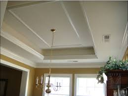 crown molding lighting tray ceiling replacing fluorescent lights in the kitchen tray ceilings