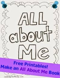 all about me free printable book free and easy and a cute