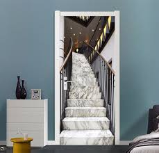 home decor free shipping free shipping luxury stairs door wall stickers diy mural bedroom