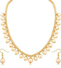 pearls necklace set images Buy youbella gold pearl strand jewellery set for women combo of jpg