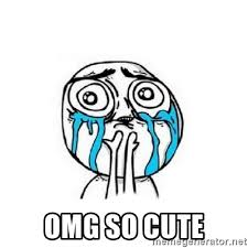 So Cute Meme Face - omg so cute crying face meme generator