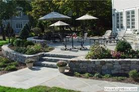 Stone Patio Design Awesome Raised Stone Patio Ideas 92 In Wallpaper Hd Design With