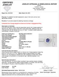 diamond clarity chart and color gia 9 04 ct unheated color change sapphire u0026 diamond ring