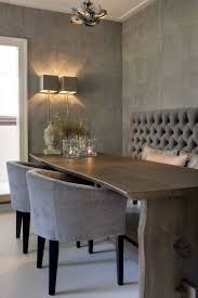 dining room with banquette seating chic dining room banquette seating greige monochromatic