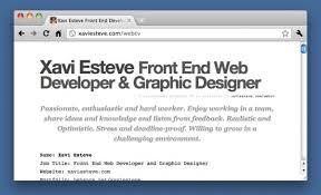 Web Developer Sample Resume by Free Web Developer U0026 Designer Sample Cv Resume Microformats Enabled