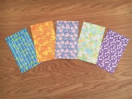 sweet botanical origami paper gift envelopes voucher holders