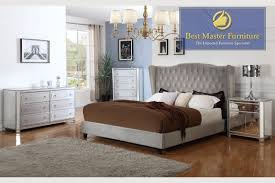 Modern Bed Set Furniture Mirrored Bedroom Best Master Furniture
